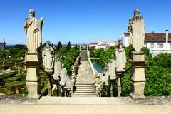 Scala con le statue di re portoghesi, Castelo Branco, Portu Immagine Stock Libera da Diritti