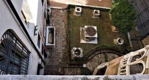 Scala Contarini Del Bovolo odgórny widok na patiu zdjęcie stock