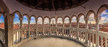 Scala Contarini del Bovolo Veneza fotos de stock royalty free