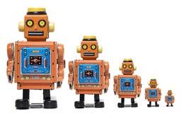 Scala d'annata del giocattolo del robot della latta Fotografia Stock Libera da Diritti