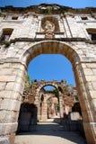 Scala Dei修道院废墟在Priorat (亦称Priorato),卡塔龙尼亚,西班牙 免版税图库摄影