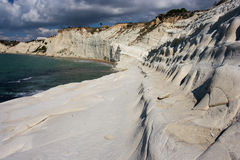 Scala dei Turchi. In the province of Agrigento (Sicily). It is consists of a prominent outcrop of white rock on the sea and the form that this monument natural Royalty Free Stock Images