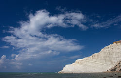 Scala dei Turchi. In the province of Agrigento (Sicily). It is consists of a prominent outcrop of white rock on the sea and the form that this monument natural Stock Photos