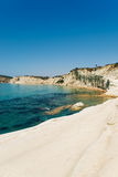 Scala dei Turchi is a fascinating limestone rock steep on a wond Stock Photo