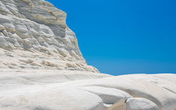 Scala dei Turchi is a fascinating limestone rock steep on a wond Royalty Free Stock Photo