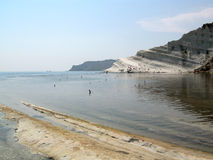 Scala dei Turchi - Italy. View of the location called Scala dei Turchi (Staircase of Turks); it is a white cliff near the city of Agrigento, Sicily. (Italy Stock Photo