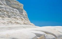 Scala dei Turchi jest fascynującym wapnia skałą stromym na wond Zdjęcie Royalty Free