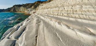 Scala dei Turchi plaża w Sicily Zdjęcia Stock