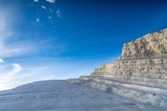 THE `SCALA DEI TURCHI`, SICILY. ITALIAN LANDSCAPE, THE `SCALA DEI TURCHI`, PROVINCE OF AGRIGENTO, SICILY Stock Photography