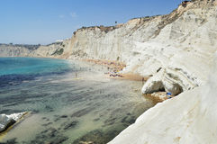 Scala dei Turchi, Sicily, Italy Stock Photos