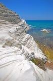 Scala dei turchi, Sicily, Italy. Stair of the Turks (Scala dei turchi) Realmonte (Agrigento province), South Western Sicilian Coast, Mediterranean sea Stock Photo