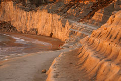 Scala dei turchi, Sicily, Italy Royalty Free Stock Images
