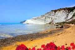 Scala dei Turchi, the white cliffs of Sicily Stock Photography