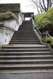 Scala del cemento al museo di antropologia Fotografie Stock