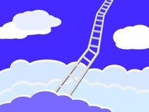 Scala del cielo Immagine Stock Libera da Diritti