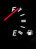 Scala del combustibile dell'automobile Fotografia Stock Libera da Diritti