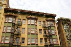 Scala del fuoco di costruzione a San Francisco Fotografie Stock