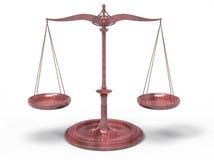 Scala del peso concetto dell'equilibrio 3D Fotografia Stock Libera da Diritti