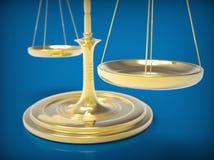 Scala del peso concetto dell'equilibrio 3D Fotografie Stock
