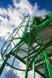 Scala del silo a cielo Immagini Stock
