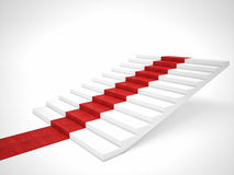 Scala del tappeto rosso Immagine Stock Libera da Diritti
