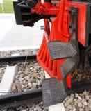 Scala del treno a vapore antico Fotografia Stock Libera da Diritti