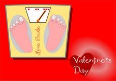Scala dell'amore del biglietto di S. Valentino Fotografie Stock