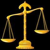 Scala dell'oro di vettore di giustizia illustrazione vettoriale