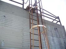 Scala della costruzione Fotografie Stock Libere da Diritti