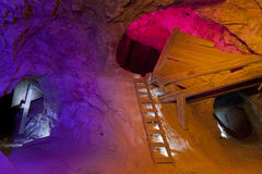 Scala della miniera di oro Immagine Stock Libera da Diritti