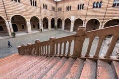 Scala della Ragione in  the Courtyard of the Palazzo della Ragione  in Verona. Royalty Free Stock Images