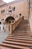 Scala della Ragione in Verona, Italy. View of Scala della Ragione in Verona, Italy royalty free stock photo