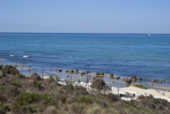 Scala della spiaggia turca. Agrigento Immagine Stock