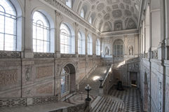 Scala dentro Royal Palace, Napoli, campania, Italia, Europa Fotografia Stock Libera da Diritti