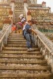 Scala di Arun Temple sulla pagoda principale immagine stock