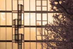 Scala di emergenza Fotografie Stock Libere da Diritti