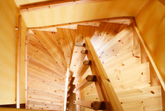 Scala di legno Fotografia Stock Libera da Diritti