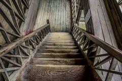 Scala di legno immagini stock libere da diritti