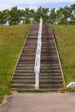Scala di legno alta Fotografia Stock Libera da Diritti
