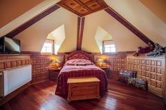 Scala di legno di vecchio stile Immagine Stock