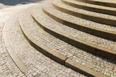 Scala di pietra del granito Fotografia Stock Libera da Diritti