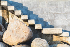 Scala di pietra e concreta Immagini Stock Libere da Diritti