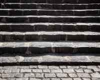 Scala di pietra Grungy Fotografia Stock
