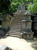 Scala di pietra di Yapahuwa Kindom situata nello Sri Lanka fotografia stock
