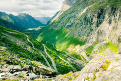 Scala di Troll alla Norvegia Fotografia Stock Libera da Diritti