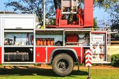 Scala di un'autopompa antincendio Fotografia Stock
