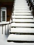 Scala dopo la bufera di neve Immagini Stock