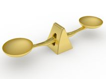 Scala dorata del peso di equilibratura Immagini Stock Libere da Diritti