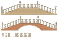 Scala e ponte bidirezionali di vettore Immagine Stock
