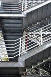 Scala esterna del metallo Fotografie Stock